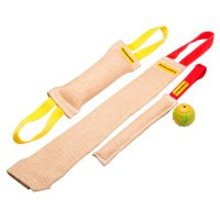 Set of Strong Jute Training Tugs + Free Dog Rubber Ball