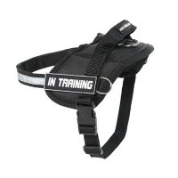 Reflective Nylon Dog Harness with handle for better control