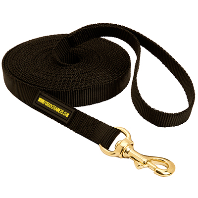 Super dependable tracking dog leash with brass snap hook